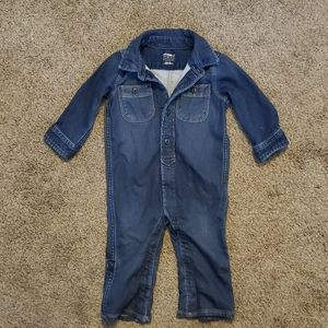 Gap one piece fabric jean outfit